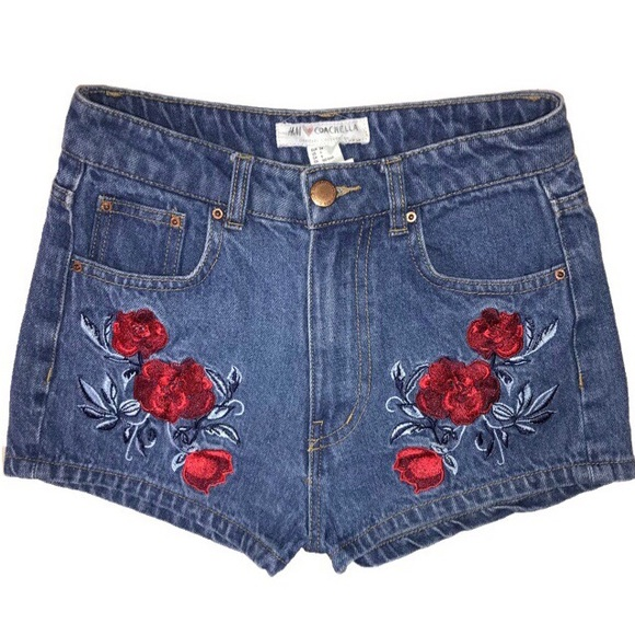 H&M Pants - SOLD-H&M Coachella Collection Embroidered Shorts